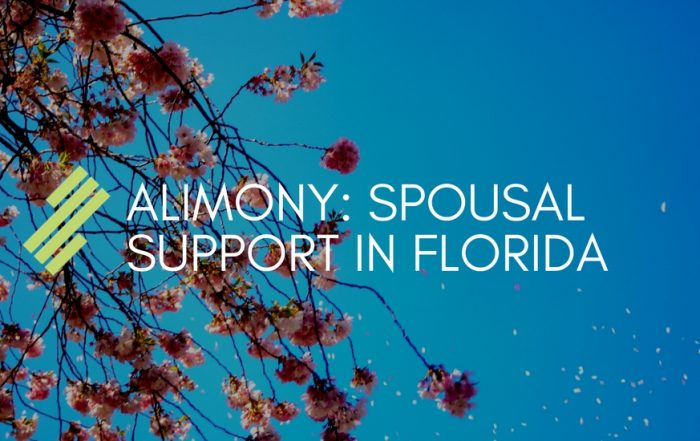 Alimony: Spousal Support in Florida