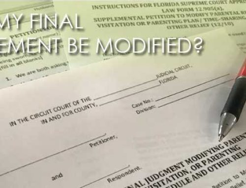CAN MY FINAL JUDGEMENT BE MODIFIED?