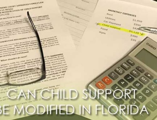 CAN CHILD SUPPORT BE MODIFIED IN FLORIDA